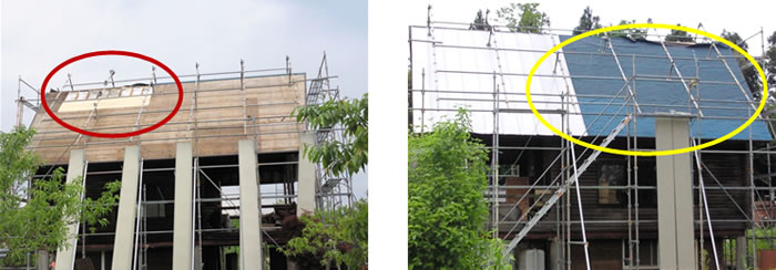 富樫外装 屋根シングル葺き張替え写真
