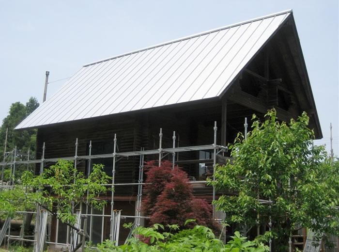 シングル葺き屋根 張替え