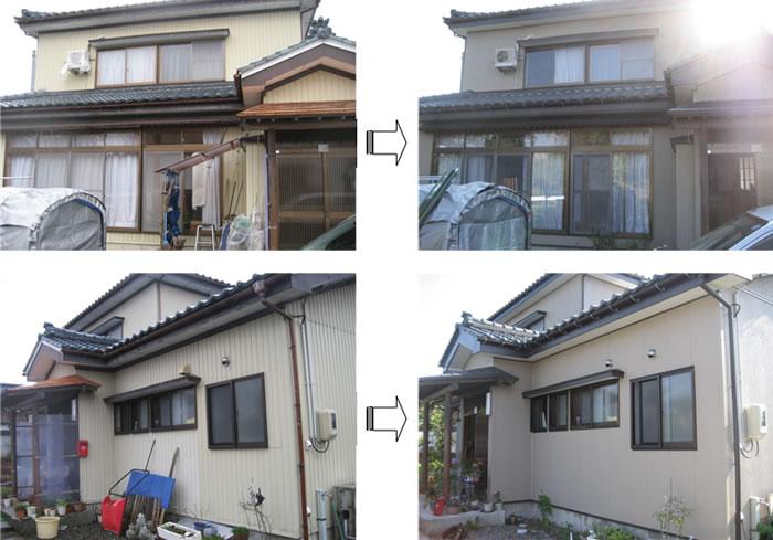 新潟県長岡市 雪害補修